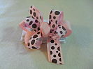 Brown Dot Bonanza Hair Bow