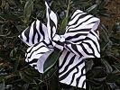 Zebra Print Hair Bow